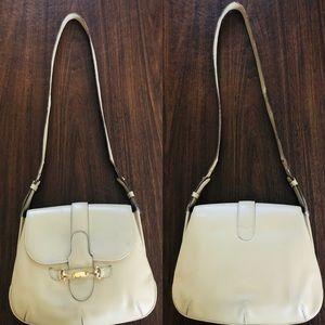Vintage GUCCI Ivory Leather Shoulder Bag